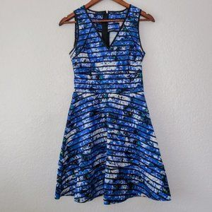 NWT banana republic Sloan fit and flare blue dress